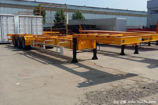 梁山长虹  轻量化  45英尺  (14米)  快递集装箱式骨架运输半挂车